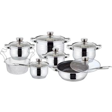 13pcs cookware set with marble coating
