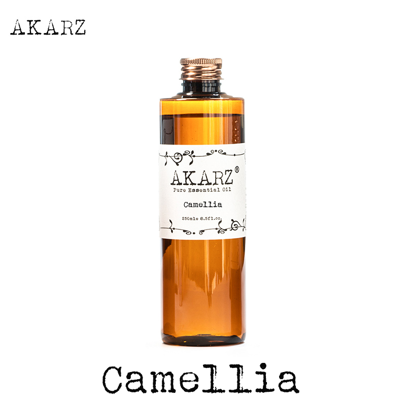 Famous brand AKARZ camellia seeds oil natural aromatherapy high-capacity skin body care massage spa camellia seeds essential oil