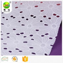 2020 New 100% cotton eyelet embroidery fabric