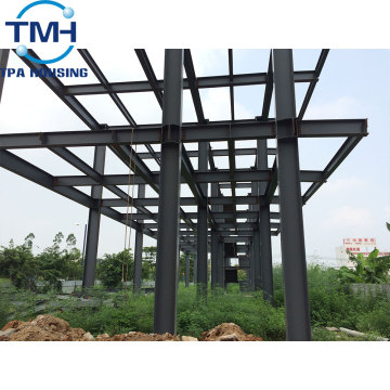 two-storey steel frame prefabricated warehouse building