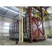 Large oil and gas trolley furnace