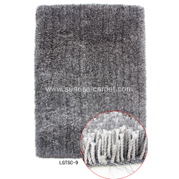 Elastic&Silk Shaggy Carpet Rug