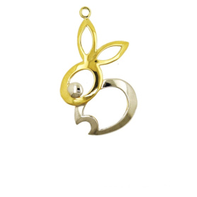 18K gold Rabbit Pendant