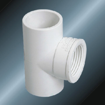 Din Pn10 Water Supply Upvc Female Tee White