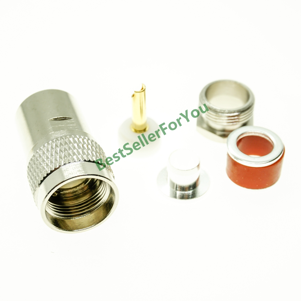 UHF PL-259 male PL259 plug clamp For RG8 LMR400 RG165 RG213 Cable RF connector