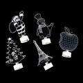 Car Interior Lighting Christmas Decorations For Cars Santa Claus Snowman Christmas Tree Apple Iron Tower LED Light Auto Product