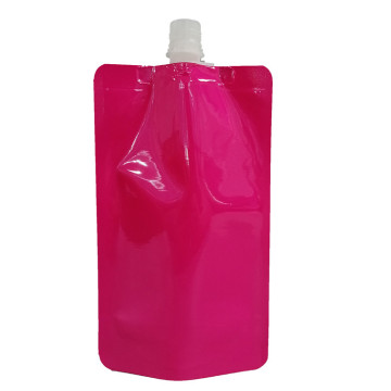 Plastic Stand up Pouch Bag with suction nozzle