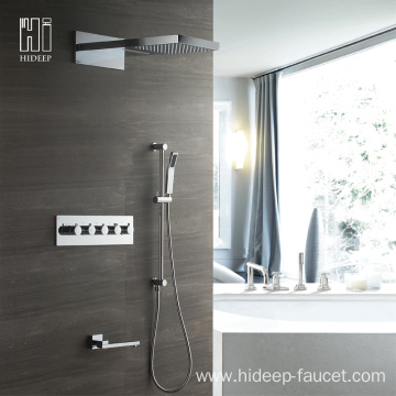 Bathroom Shower Wall Mounted Brass Shower Faucet Set