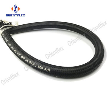 Rubber hydraulic texile covered hose r5