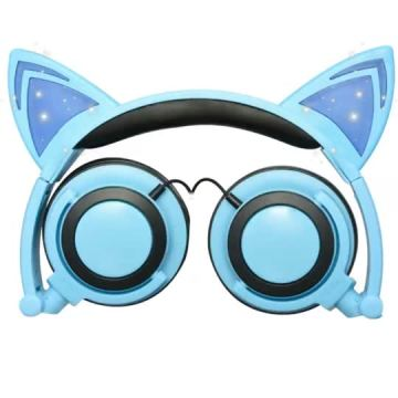 Private Mold Patented Wired Glowing Cat Ear Headphones