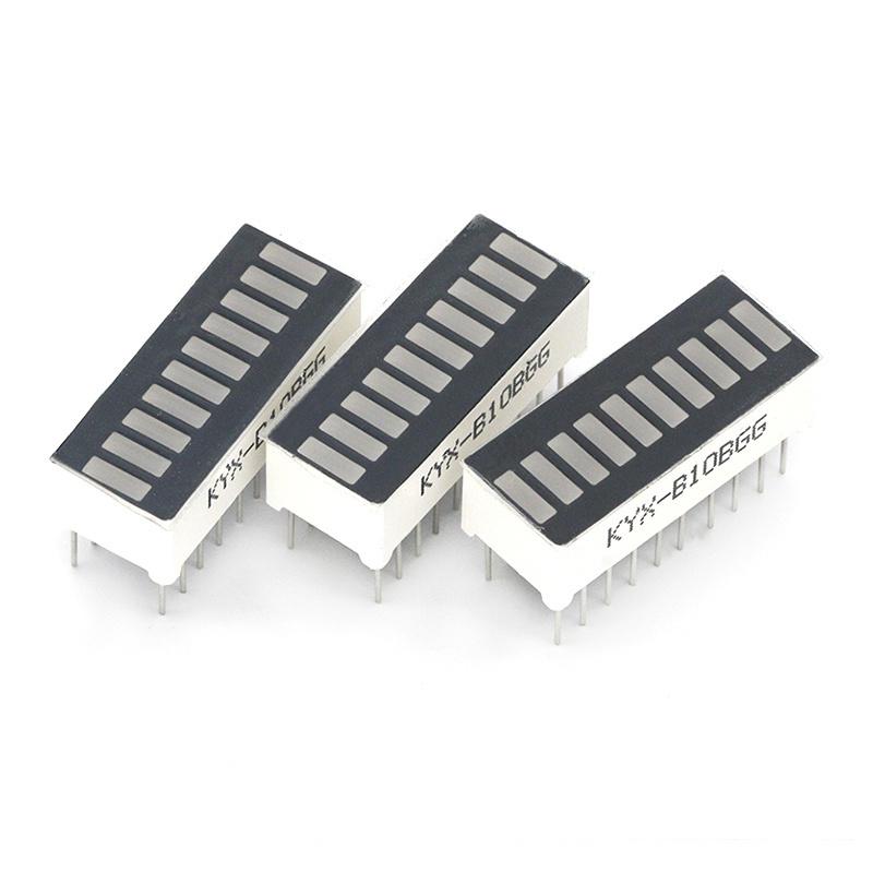 2pcs LED Display 10 Segment Bar Graph Red Green Blue White Yellow Green Numbers Signs Cube Bars Graphics Bar-Graph Module DIY