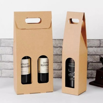 Custom Made Kraft Paper Gift Wine Packaging Box