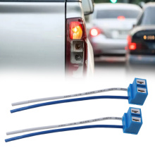 2pcs Car-Styling H7 Connector Female Ceramic Sockets Auto Car Bulb Adaptor With Wire Automobiles Plug-in Light Bulb Extension