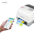118mm Bluetooth Direct Thermal Transfer Label Printer