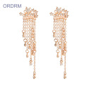 New Trendy Small Star Tassel Drop Earrings
