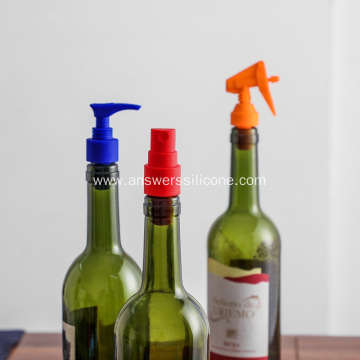 Custom reusable silicone wine bottle stopper