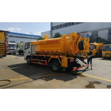 Dongfeng Euro 6 Cleaning suction truck 3.5cm