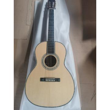 free shipping customize guitar ebony 48mm nut width fancy abalone OOO solid spruce slot head 12 fret acoustic Guitarra