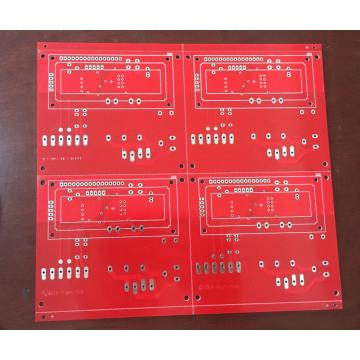 2 layer 4OZ PCB with red solder