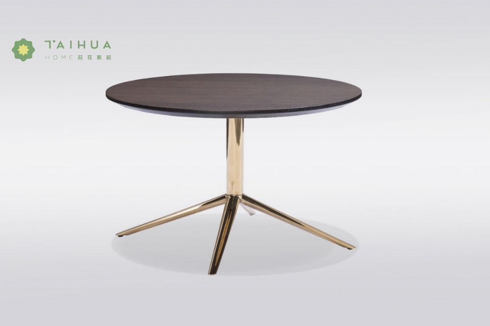Solid Wood Top Coffe Table Round