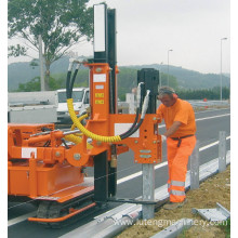Diesel Powered Fence  Pounder Guardrail Pile Driver