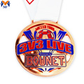 Custom 3v3 football medals for kids