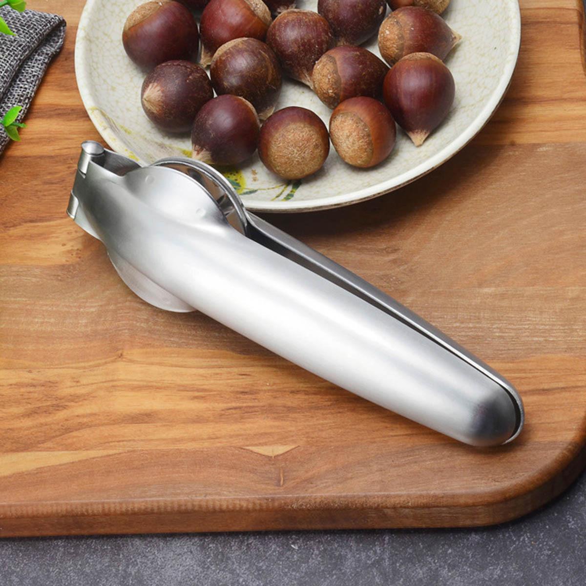 New Stainless Steel Walnut Opener 2 in 1 Quick Chestnut Clip Plier Sheller Chestnut Nut Cracker Multifunctional Kitchen Tools