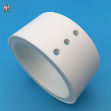 99% 99.5% alumina ceramic bush cylinder customized