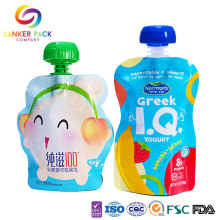 Food Grade Standing Baby Food Pouch With Spout