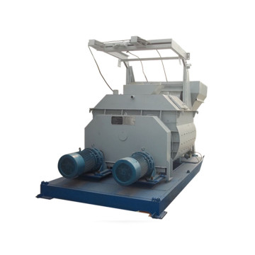 Mini movable JS1000 concrete mixer with lift hopper