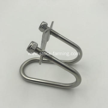gestaion stall parts stainless Steel pipe fastener
