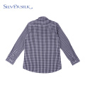 Spring custom branded long sleeve casual kids shirt