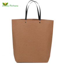 Fashion kraft paper shopping bags boat shaped