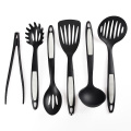 6 piece cooking utensil set with food tongs