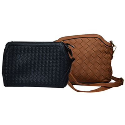 Women weaving zipper shoulder bag