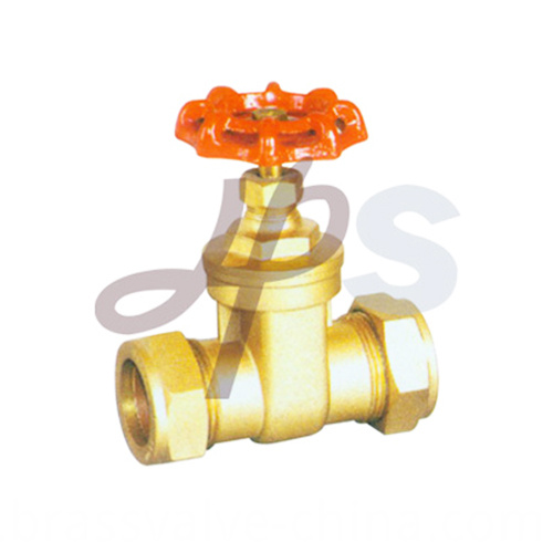Brass Compression Gate Valve For Copper Tube Hg17
