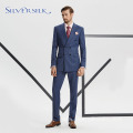 Business casual blazer blue tuxedo suit