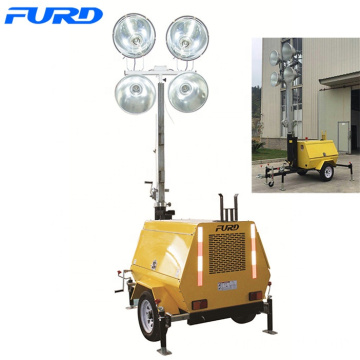 Manual Vertical Mast Light Tower for Construction Lighting