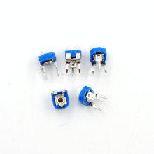 50PCS/LOT RM065 103 10KR 10K ohm Trimpot Trimmer Potentiometer Variable Potentiometers RM-065 Blue And White Color