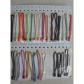 Small string tag cords for clothing