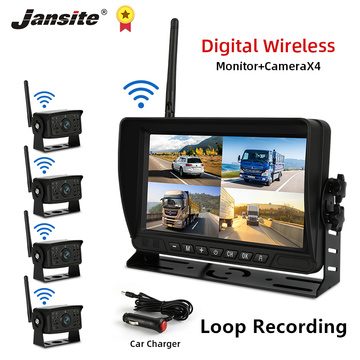 Jansite Truck DVR Car Camera Recorder IPS Screen 720P Vehicle monitor Loop Recording Reverse Image Night Vision Digital wireless