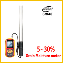 Digital Grain Moisture Meter With Measuring Probe Portable LCD Hygrometer Humidity Tester For Corn Wheat Rice GM640 -BENETECH