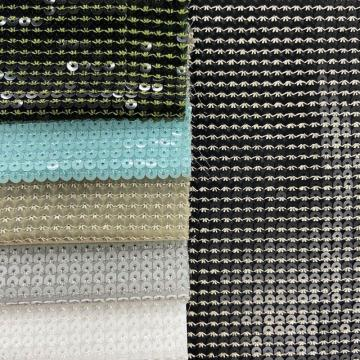 Regular 5mm Sequin Embroidery On Chiffon Fabric