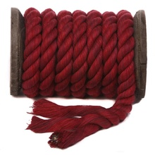 Colourful 6mm 8mm 10mm 100% natural cotton rope