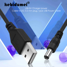 kebidumei New Arrival USB 5V Charger power Cable USB to DC 5.5 mm plug / jack USB Power Cable For MP3/MP4 Player