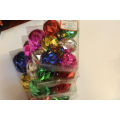 Assorted Color Christmas Ball Ornament with Diamond Designs