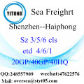 Shenzhen Port Sea Freight Shipping To Haiphong