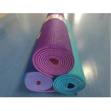 PVC material double color yoga mat