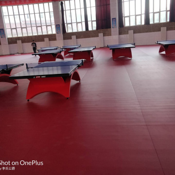 Table Tennis PVC Floor with ITTF certificate