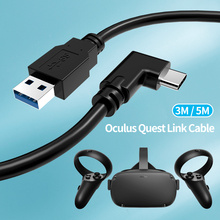 Oculus Quest 2 USB C Cables 5meter Long 5G Data Transfer Charge VR Link Headset for Quest2 Right Angled Type-c Ending